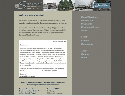 Summerfield Homeowners Association